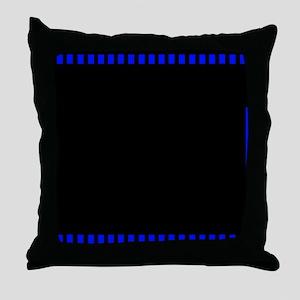 Blue filmstrip 3 Throw Pillow