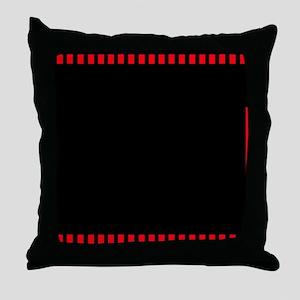 Red Filmstrip 1 Throw Pillow