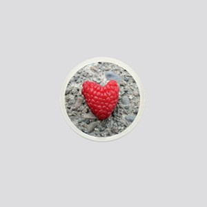 Raspberry Heart Mini Button