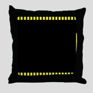 Yellow filmstrip 2 Throw Pillow