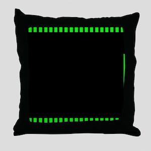 Green filmstrip 4 Throw Pillow