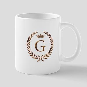 Napoleon initial letter G monogram Mug