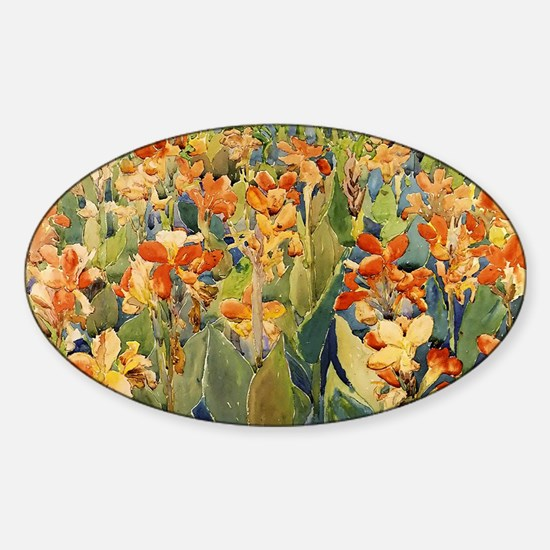 Maurice Prendergast Bed Of Flowers Sticker (Oval)