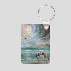 Dream Elephant Aluminum Photo Keychain