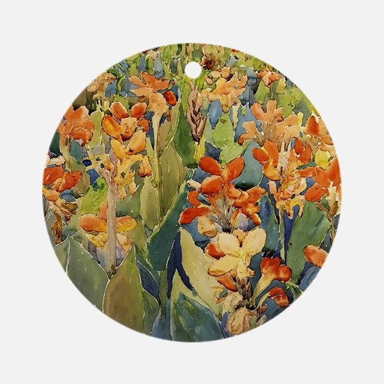 Maurice Prendergast Bed Of Flowers Round Ornament