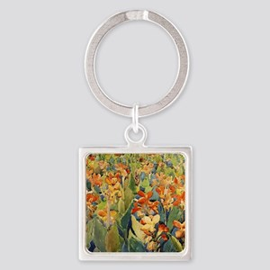 Maurice Prendergast Bed Of Flowers Square Keychain