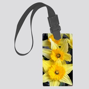 Daffs in a line Large Luggage Tag