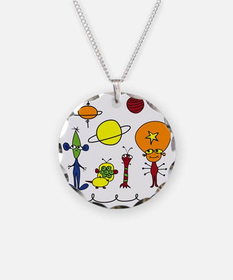 Out of This World Necklace Circle Charm