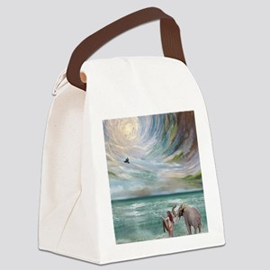 Dream Elephant Canvas Lunch Bag