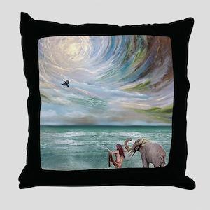 Dream Elephant Throw Pillow