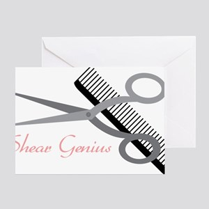 Shear Genius Greeting Card