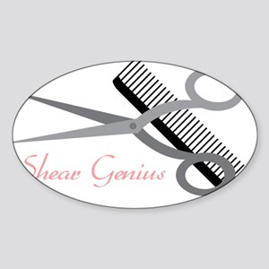 Shear Genius Sticker (Oval)