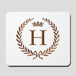 Napoleon initial letter H monogram Mousepad