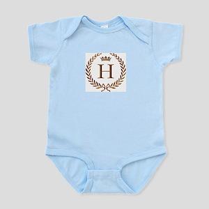 Napoleon initial letter H monogram Infant Creeper