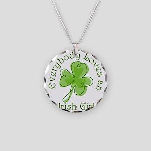 Everybody Loves an Irish Gir Necklace Circle Charm
