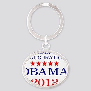 Obama Inauguration Oval Keychain