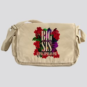 Alpha Epsilon Phi Big Floral Messenger Bag