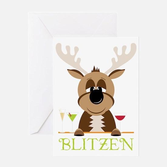 Blitzen Greeting Card