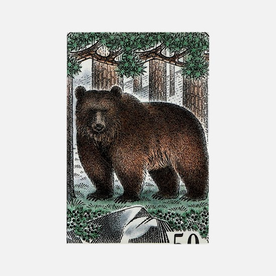 1989 Finland Brown Bear Postage S Rectangle Magnet