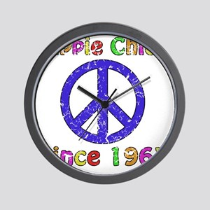 1963 Hippie Chick Wall Clock