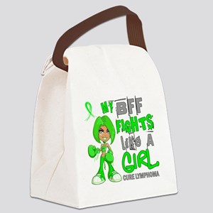 D BFF Fights Like Girl Lymphoma 4 Canvas Lunch Bag