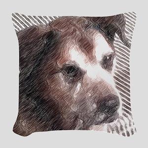 Man's Best Friend Woven Throw Pillow