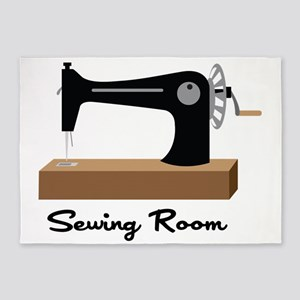 Sewing Room 5'x7'Area Rug