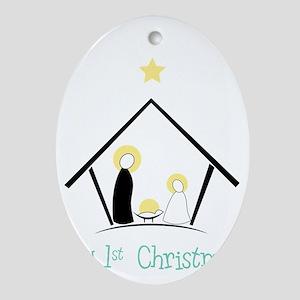 My 1st Christmas Oval Ornament