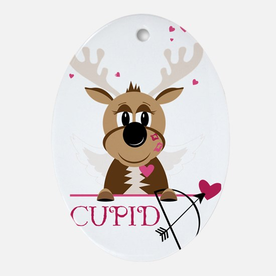 Cupid Oval Ornament