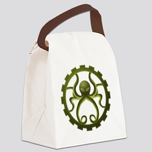 octo-gear (green) Canvas Lunch Bag