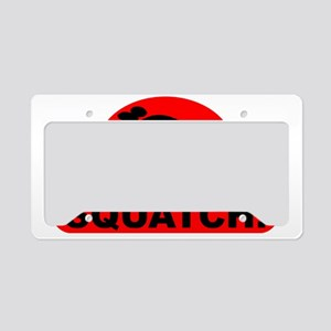 Red RESPECT THE SQUATCH! License Plate Holder