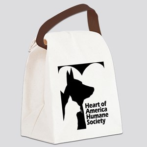 HAHS500X518BW Canvas Lunch Bag