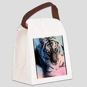 Pastel Tiger Canvas Lunch Bag