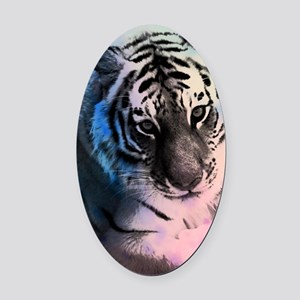 Pastel Tiger Oval Car Magnet