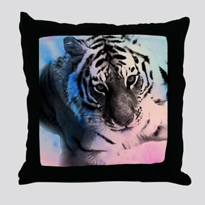 Pastel Tiger Throw Pillow