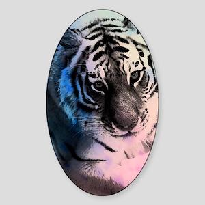 Pastel Tiger Sticker (Oval)