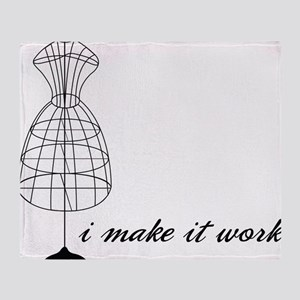 Make It Work Throw Blanket
