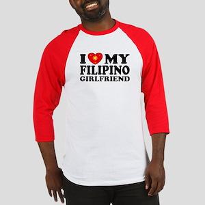 I Love my Filipino Girlfrien Baseball Jersey