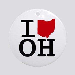 I Heart Ohio Ornament (Round)