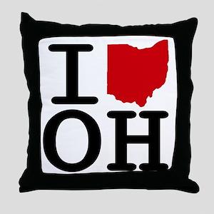 I Heart Ohio Throw Pillow