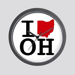 I Heart Ohio Wall Clock
