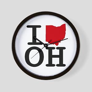 I Heart Ohio Wall Clock