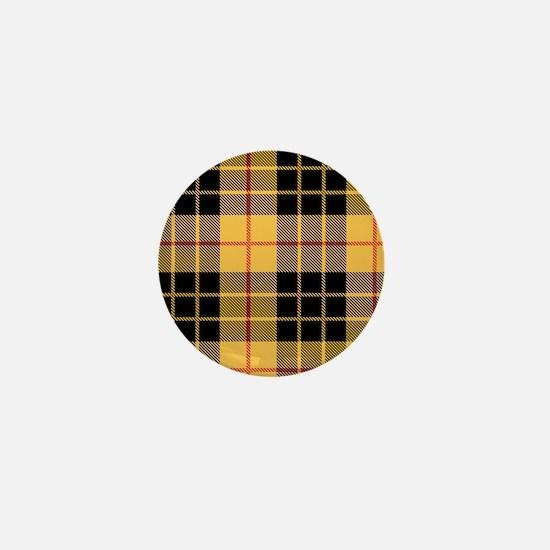 Yellow Argyle Mini Button
