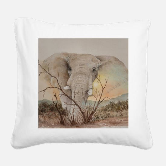 Ele Africa Square Canvas Pillow