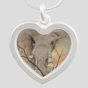 Ele Africa Silver Heart Necklace