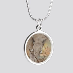 Ele Africa Silver Round Necklace