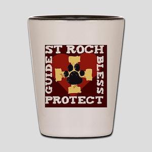 St. Roch Protect My Dog Shot Glass