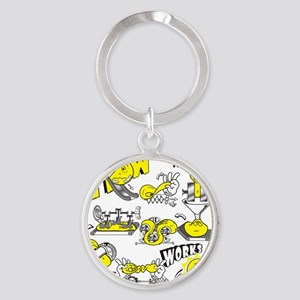 How physical therapy works Round Keychain