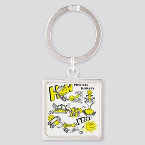 How physical therapy works Square Keychain