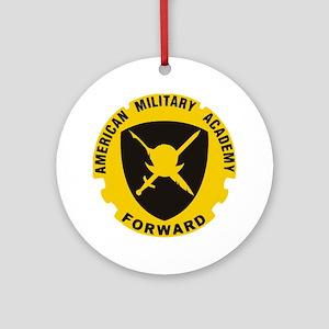 American Military Academy SLI Round Ornament